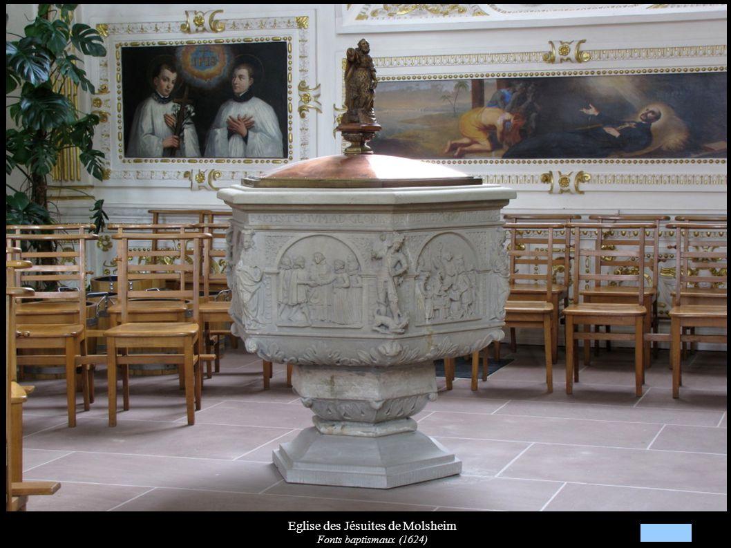 Eglise des Jésuites de Molsheim Fonts baptismaux (1624)