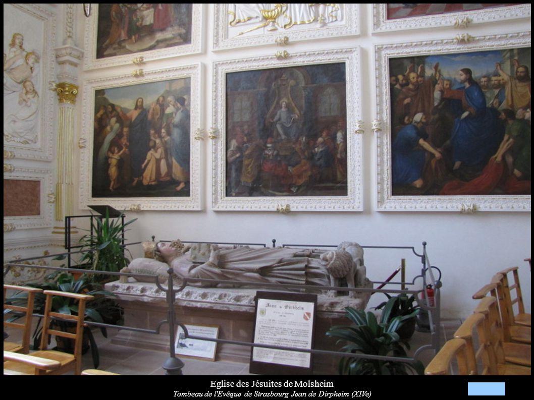 Eglise des Jésuites de Molsheim Tombeau de l Evêque de Strasbourg Jean de Dirpheim (XIVe)