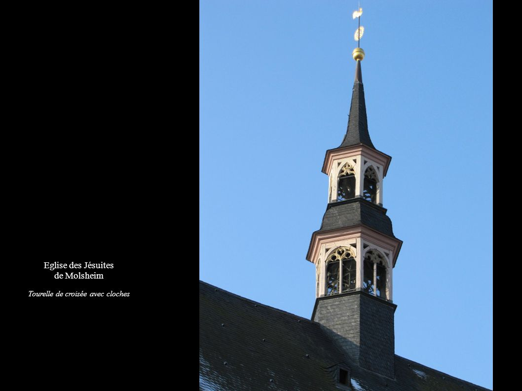 Eglise des Jésuites de Molsheim Girouette, Symbole de la Compagnie de Jésus