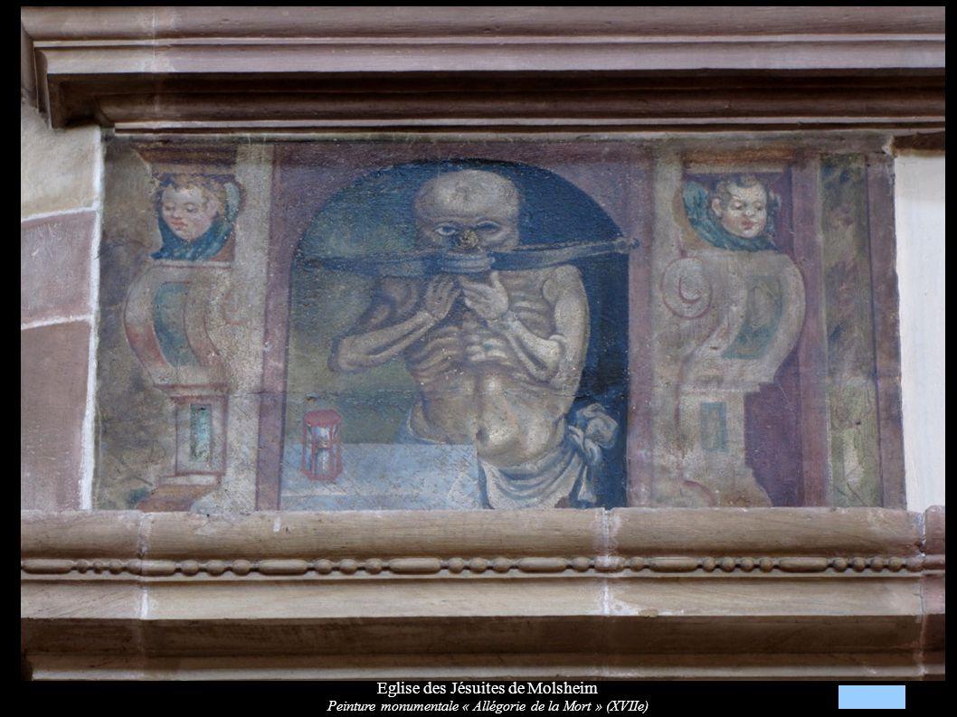 Eglise des Jésuites de Molsheim Peinture monumentale « Allégorie du Temps» (XVIIe): enfant Jésus et sablier
