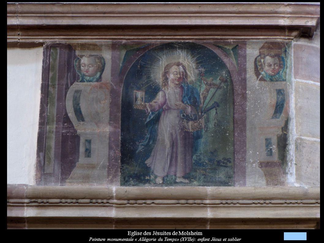 Eglise des Jésuites de Molsheim Calvaire, Christ en croix, Vierge et Saint-Jean (XVIIIe)