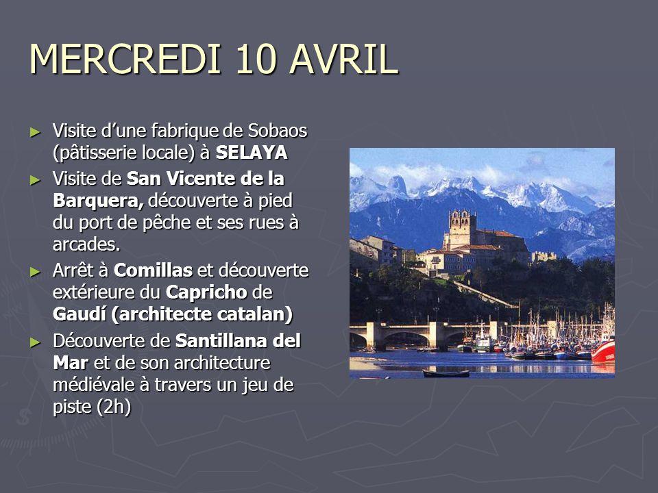 JEUDI 11 AVRIL ► Excursion aux Pics d'Europe, accompagnée de deux guides de montagne diplômés.