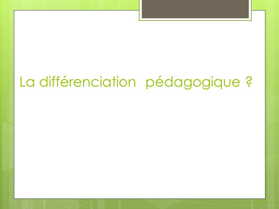 Différencier signifie : […] savoir analyser et ajuster sa pratique de même que l'environnement d'apprentissage de façon à tenir compte des préalables et caractéristiques d'un ou de plusieurs élèves au regard d'un objet d'apprentissage particulier.