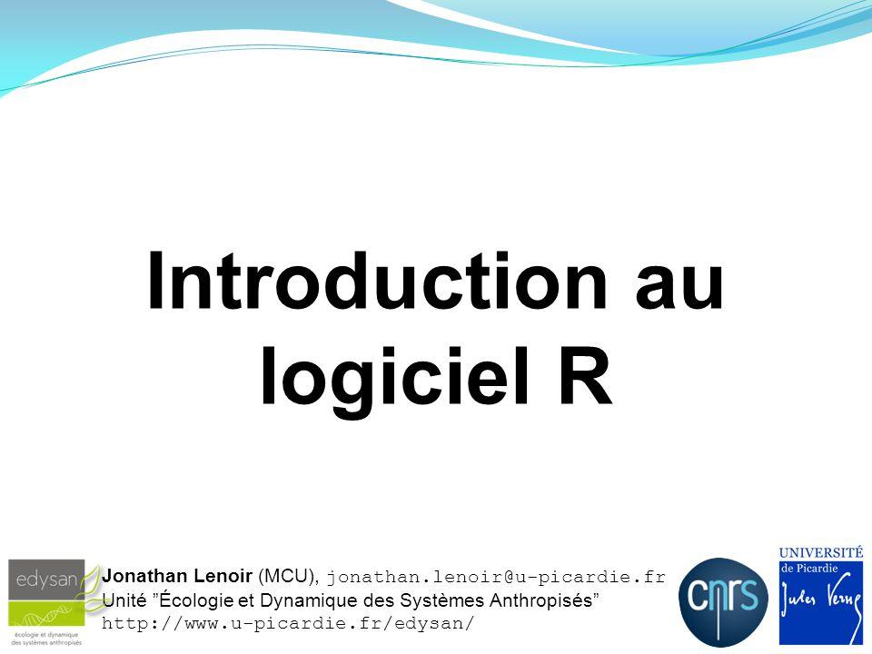 Plan du cours Chapitre 1 : Introduction au logiciel R 1.1.