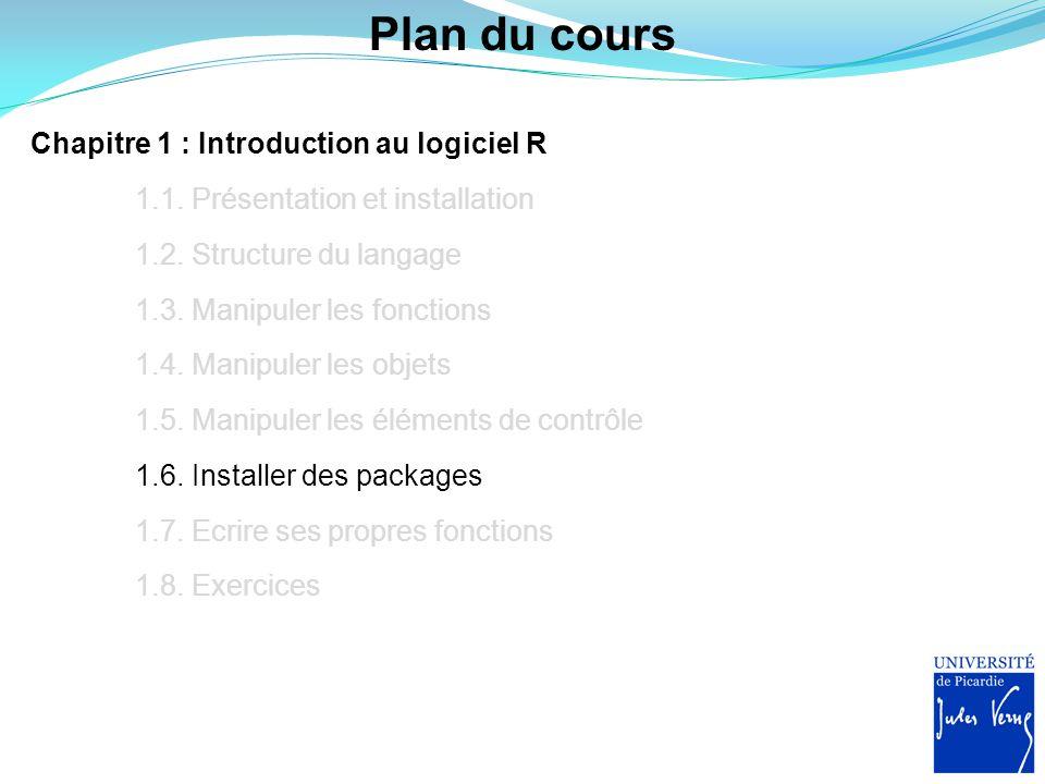 Sélection du portail Dans un premier temps, il faut sélectionner un portail à l'aide de la fonction chooseCRANmirror() : > chooseCRANmirror() Sélectionnez le portail nommé France(Lyon1) et cliquez sur OK