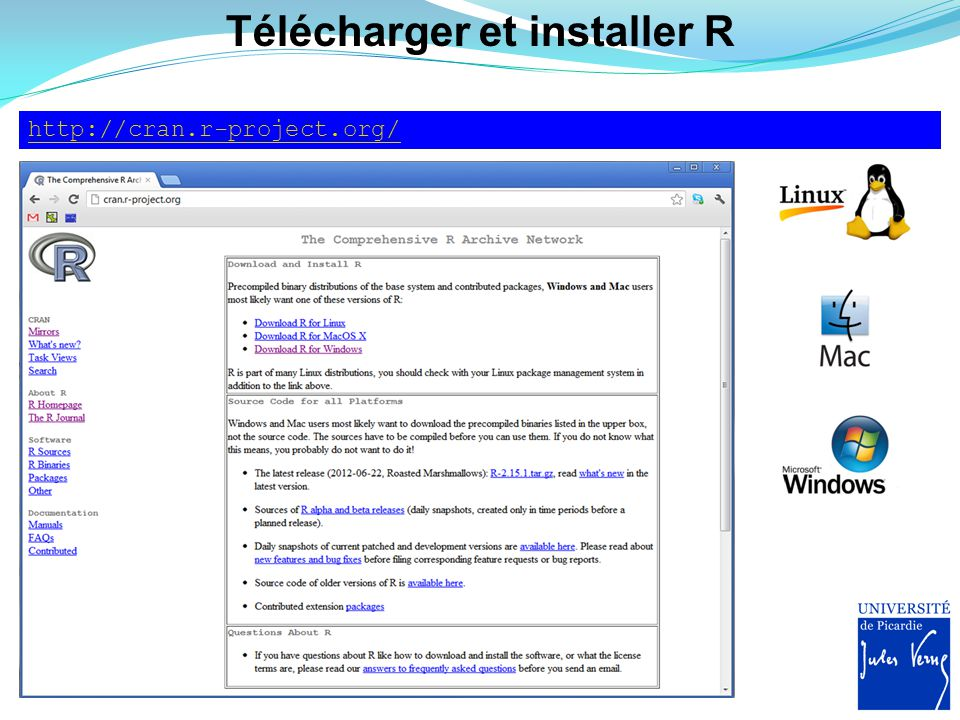 Télécharger et installer Tinn-R, l'ami de R http://www.sciviews.org/Tinn-R/