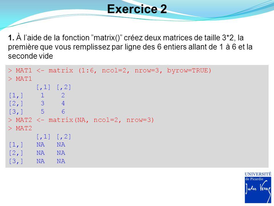 Exercice 2 2.