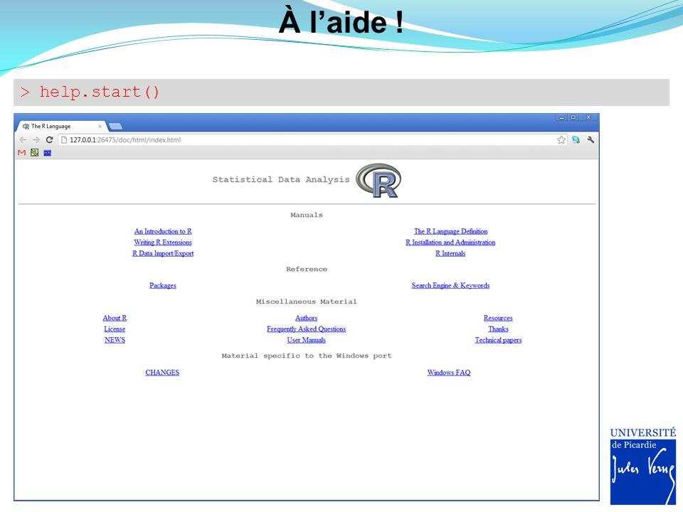 Aide avec recherche par mots clés > help.search( working directory )