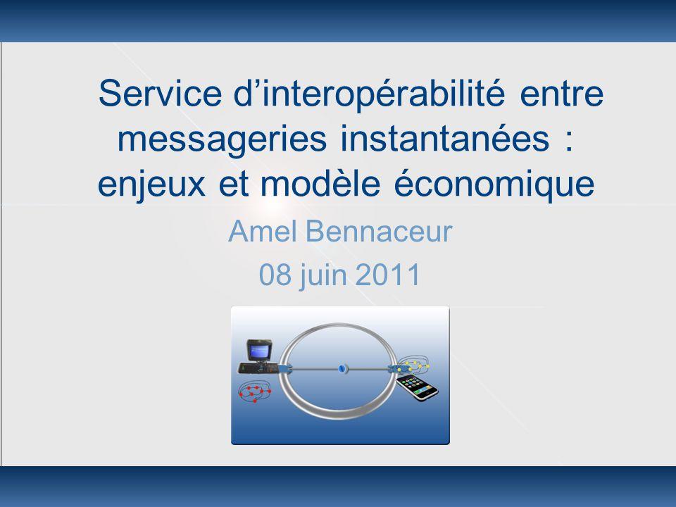 Interopérabilité IM: enjeux et modèle économique 08 juin 2011 Plan  Contexte: acteurs/produits/marchés  Solution proposée  Modèle économique  Scenarios de développement  Conclusion 2