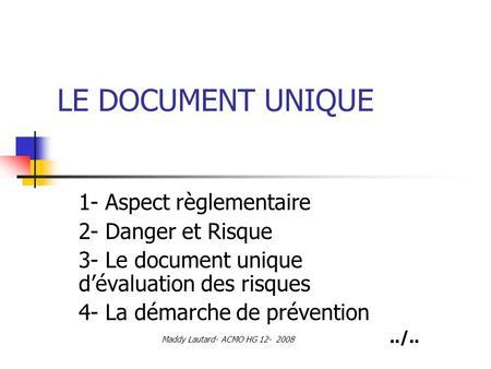 Grille d valuation des risques ppt t l charger - Grille d evaluation des risques psychosociaux ...