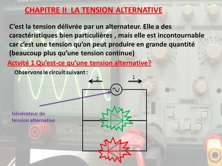 CHAPITRE II LA TENSION ALTERNATIVE