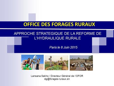 OFFICE DES FORAGES RURAUX