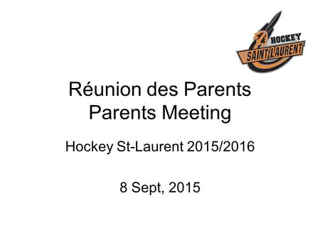 Réunion des Parents Parents Meeting