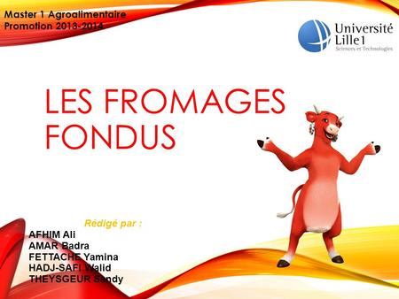 Les fromages fondus Master 1 Agroalimentaire Promotion