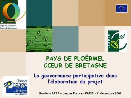 Unadel – APFP – Leader France - PARIS - 11 décembre 2007.