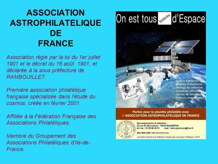 ASSOCIATION ASTROPHILATELIQUE DE FRANCE