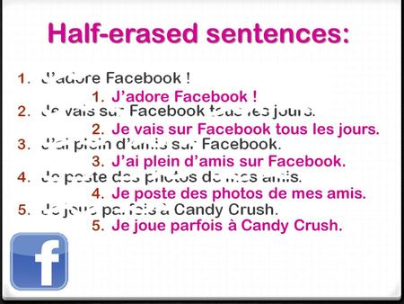 Half-erased sentences: