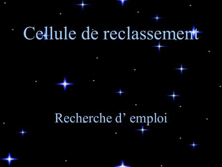Cellule de reclassement