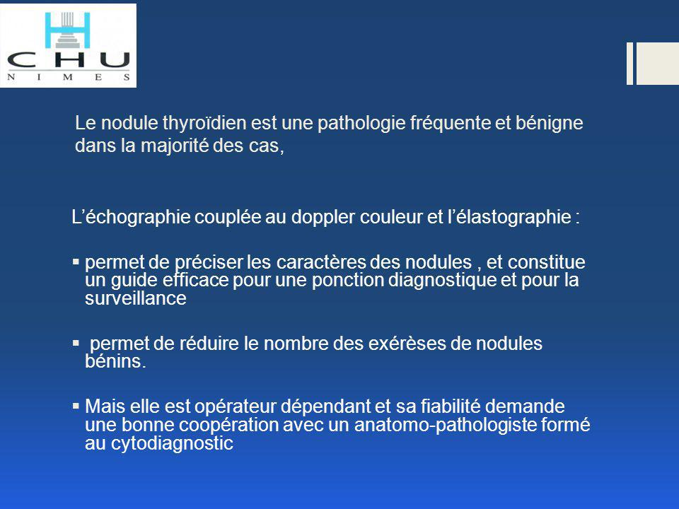 Chaque patient(e) avec un nodule thyroïdien est un candidat potentiel pour une PAF et doit bénéficier d'une évaluation clinique, biologique (TSH) et radiologique (US) avant ce geste.