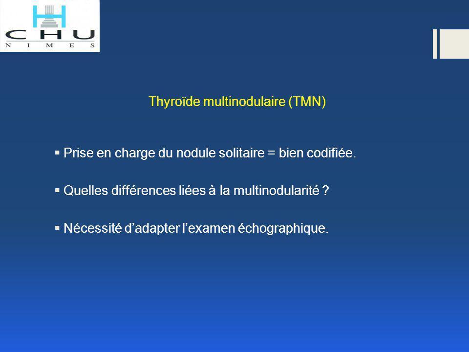 Thyroïde multinodulaire (TMN) Risque de cancer et nombre de nodules  Idée reçue n° 1 : plus on a de nodules, moins on risque de cancer.