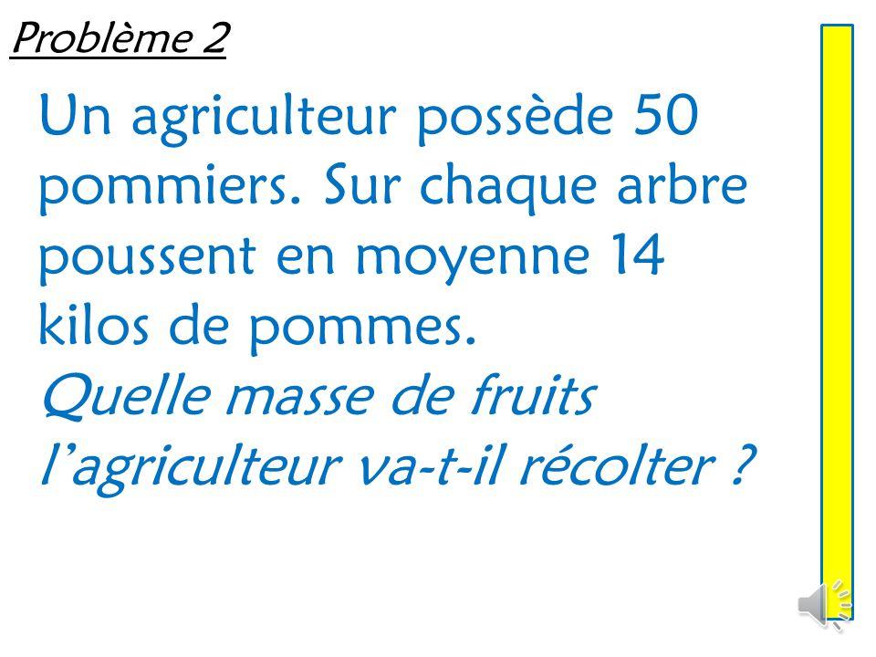 Problème 2 Un agriculteur possède 50 pommiers.