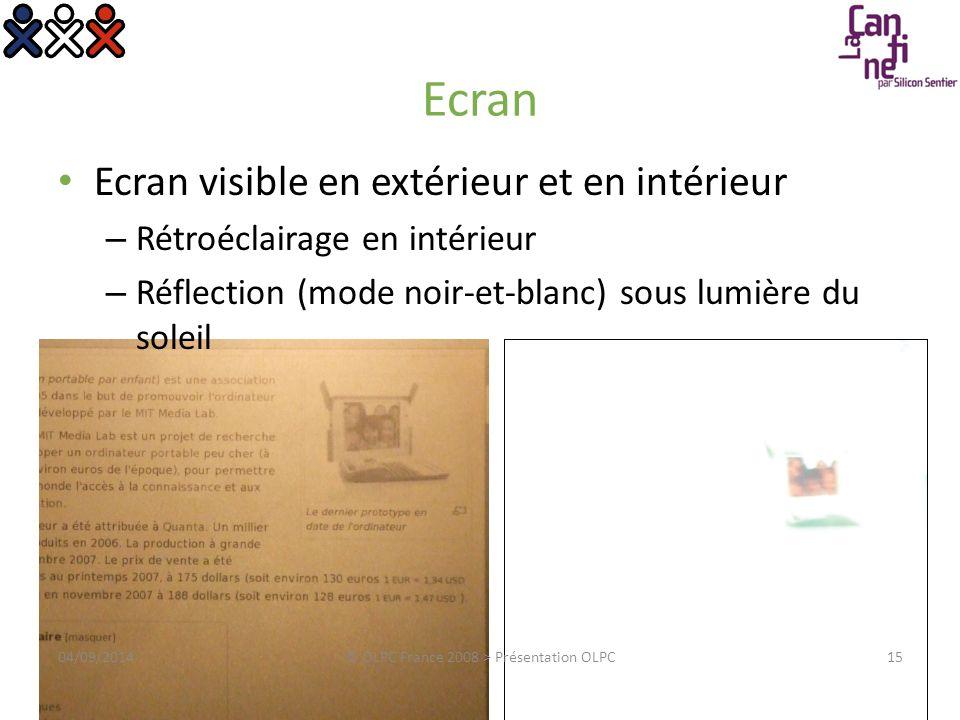 04/09/2014© OLPC France 2008 > Présentation OLPC16 WiFi Mesh Ouvrir l'ordinateur c'est créer le réseau « Oreilles » pour une réception optimale Réseau