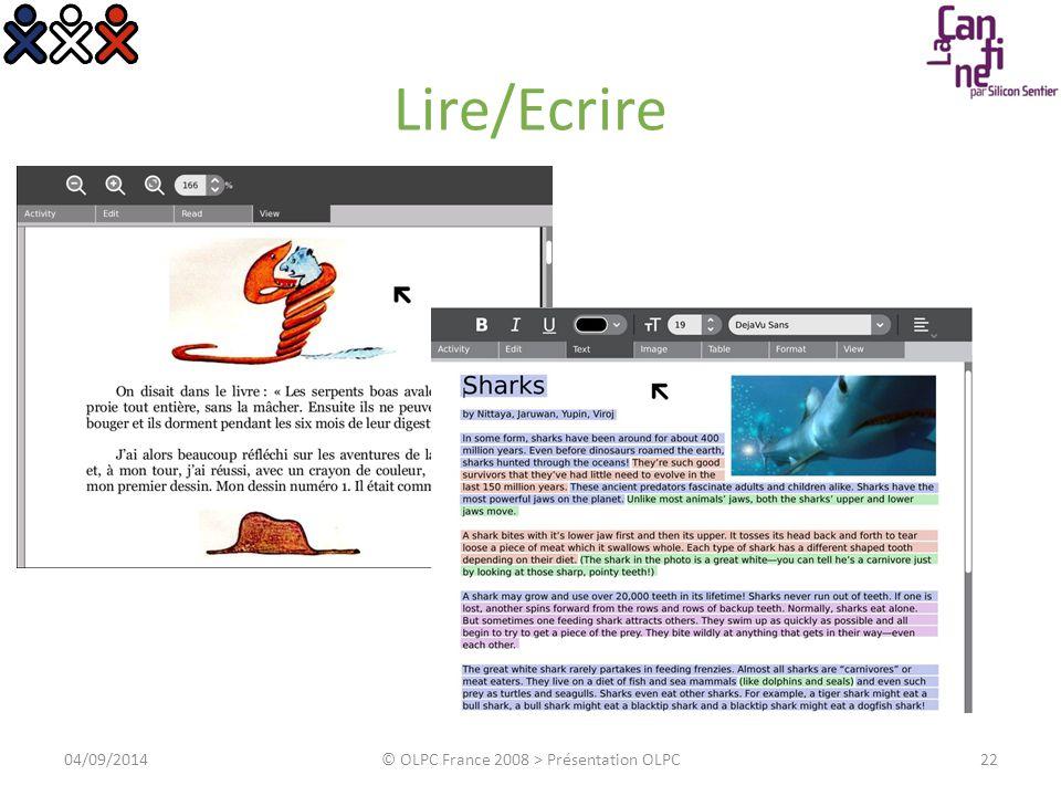 Dessiner 04/09/2014© OLPC France 2008 > Présentation OLPC23