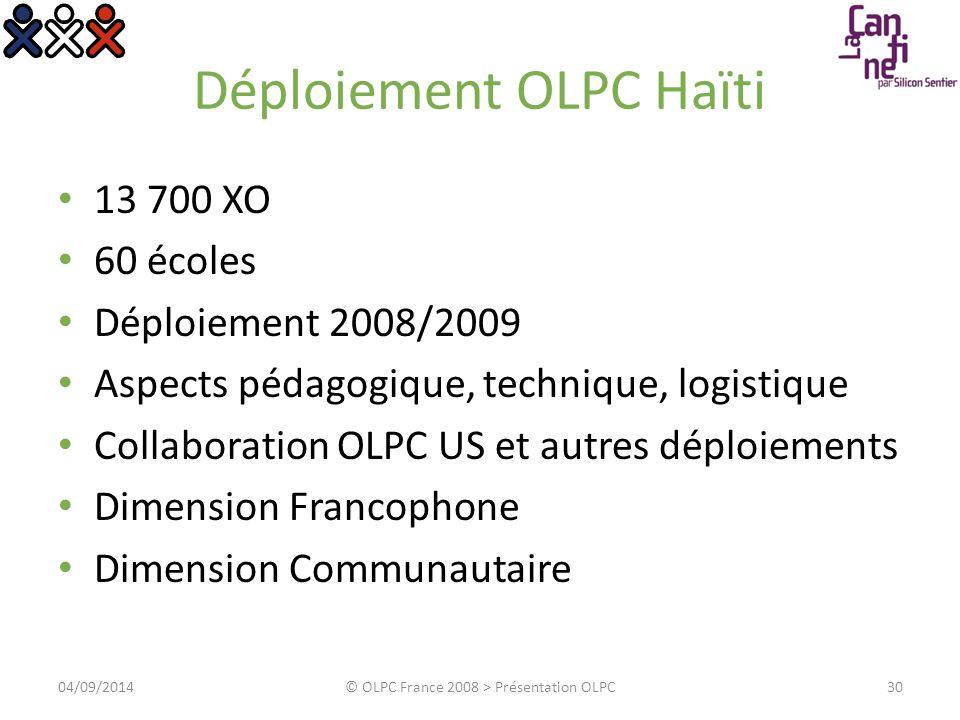 Exemples d activité 3104/09/2014© OLPC France 2008 > Présentation OLPC