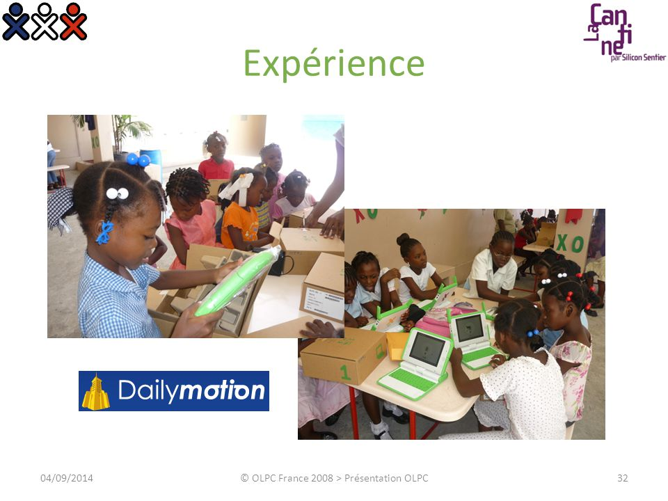 Agenda Philosophie Machine Contenu Expérience Propositions 3304/09/2014© OLPC France 2008 > Présentation OLPC
