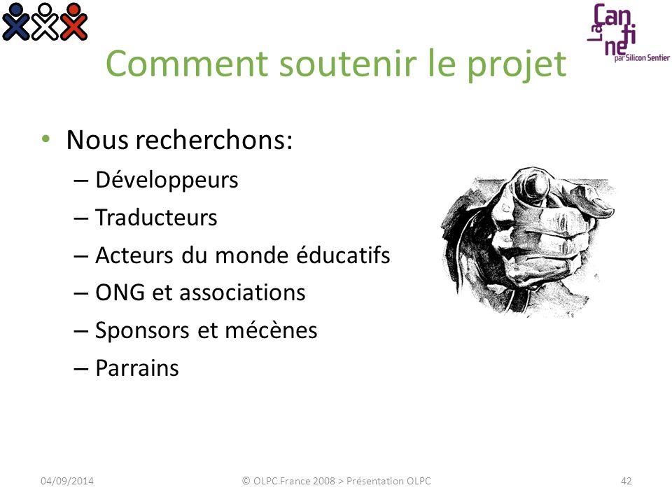 Questions/Réponses 04/09/2014© OLPC France 2008 > Présentation OLPC43