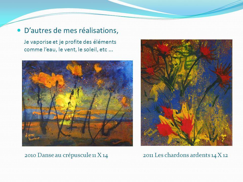 Françoise Issaly m'apprends à utiliser les médiums Œuvre de Françoise
