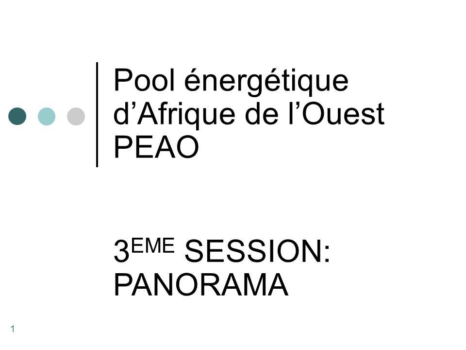 2 Les Membres du « Pool énergétique d'Afrique de l'Ouest » SBEE (Bénin) SONABEL (Burkina Faso SOGEPE (Côte d'Ivoire) SOPIE (Côte d'Ivoire) NAWEC (Gambie) ECG (Ghana) VRA (Ghana) EDG (Guinée) LEC (Liberia) EDM (Mali) PHCN (Nigeria) SENELEC (Sénégal) NPA (Sierra Leone) CEB (Togo / Bénin) SOGEM (Sénégal / Mali / Mauritanie)