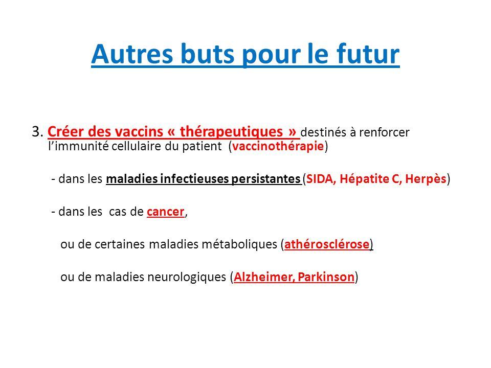 Vaccins thérapeutique anti VIH -VIH: renforcer le système d'immunité cellulaire pour lui permettre d' éliminer le réservoir de cellules infectées → succès jusqu'ici limité Problèmes: provirus latent dans les lymphocytes T mémoire jouant le rôle de réservoirs→ échappement; Il faudrait pouvoir « purger les réservoirs »: Comment?.