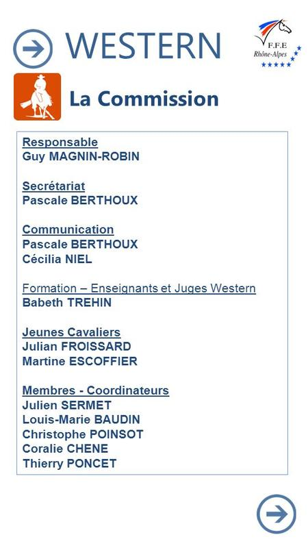WESTERN BIENVENUE ! La Commission Responsable Guy MAGNIN-ROBIN