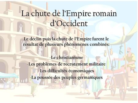 La chute de l'Empire romain d'Occident