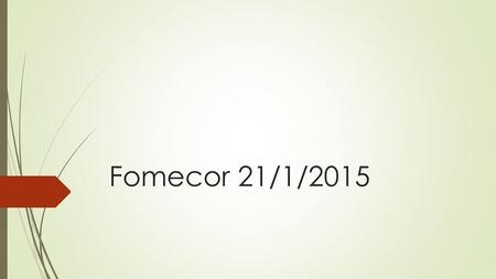 Fomecor 21/1/2015.