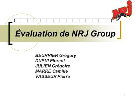 Évaluation de NRJ Group