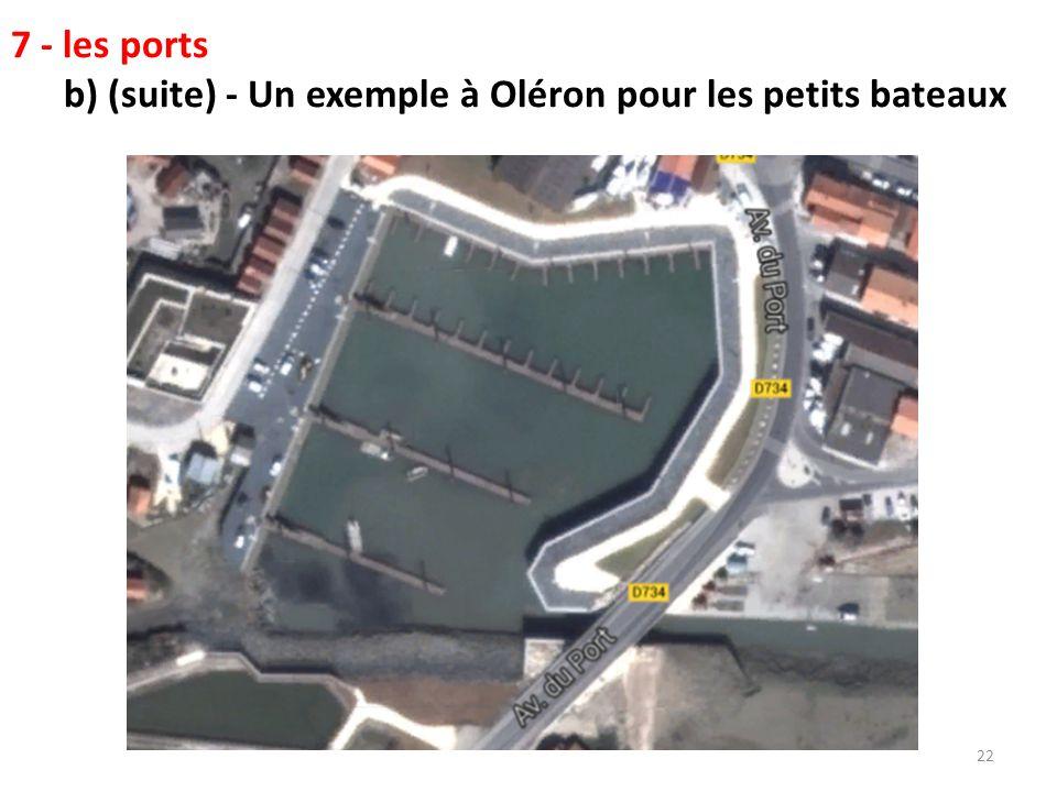 7 - les ports c) - Un havre en eau profonde : Au pied du pont côté continent.