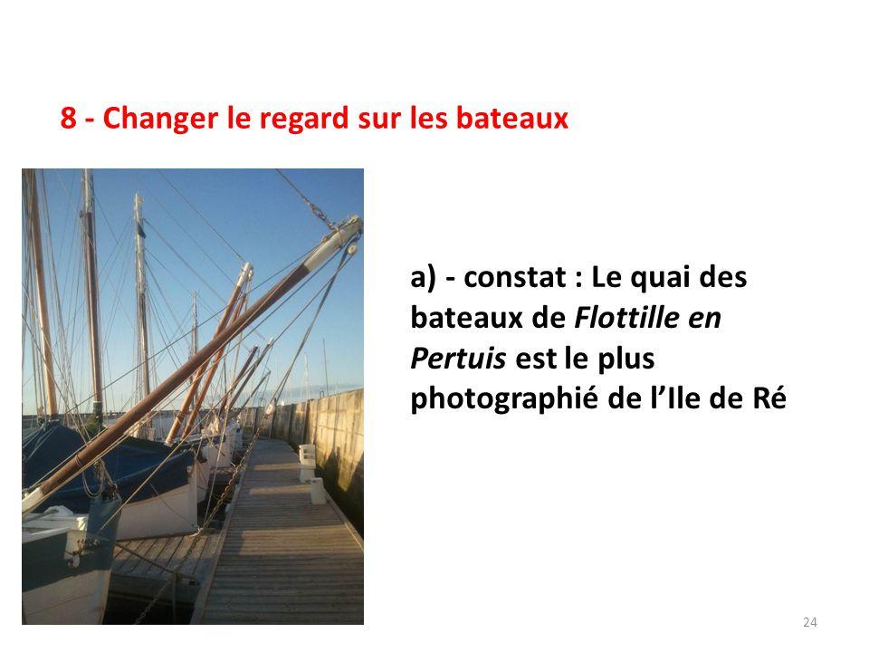 25 8 (suite) - Changer le regard sur les bateaux b) - constat : un autre exemple de rassemblement cohérent et séduisant