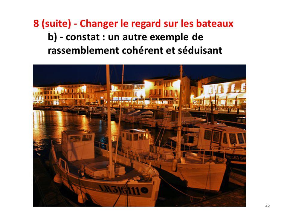 8 (suite) - Changer le regard sur les bateaux c) - Relations entre gestionnaires, bateaux et armateurs: - Le développement du nautisme n'est plus une fin en soi.