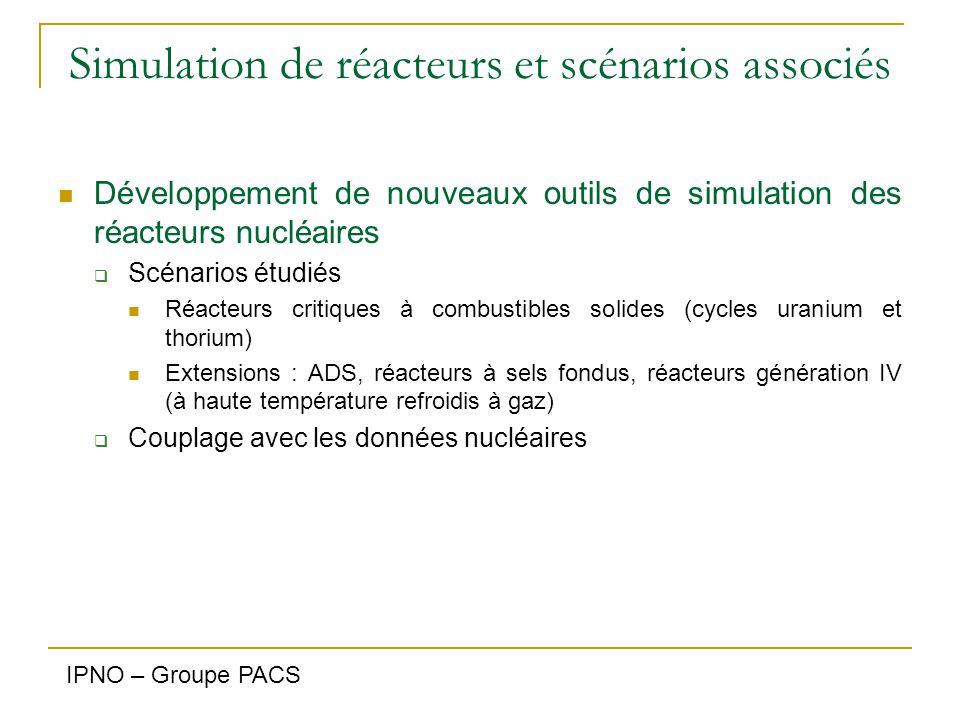 Données nucléaires Connaissance des sections efficaces des actinides à incinérer & isotopes majeurs des combustibles  Sections efficaces de fission et distributions angulaires à n-TOF Mesurés: nat Pb, 209Bi, 232 Th, 233,235,238 U, 237 Np, … de 0.7 eV à 1 GeV Etude de la fission de 236 U ( 231 Pa à terme)  Sections efficaces de capture 233,234,235,238 U, 237 Np, 240 Pu, 241,243 Am IPNO – Groupe PACS ; IRFU - SPhN