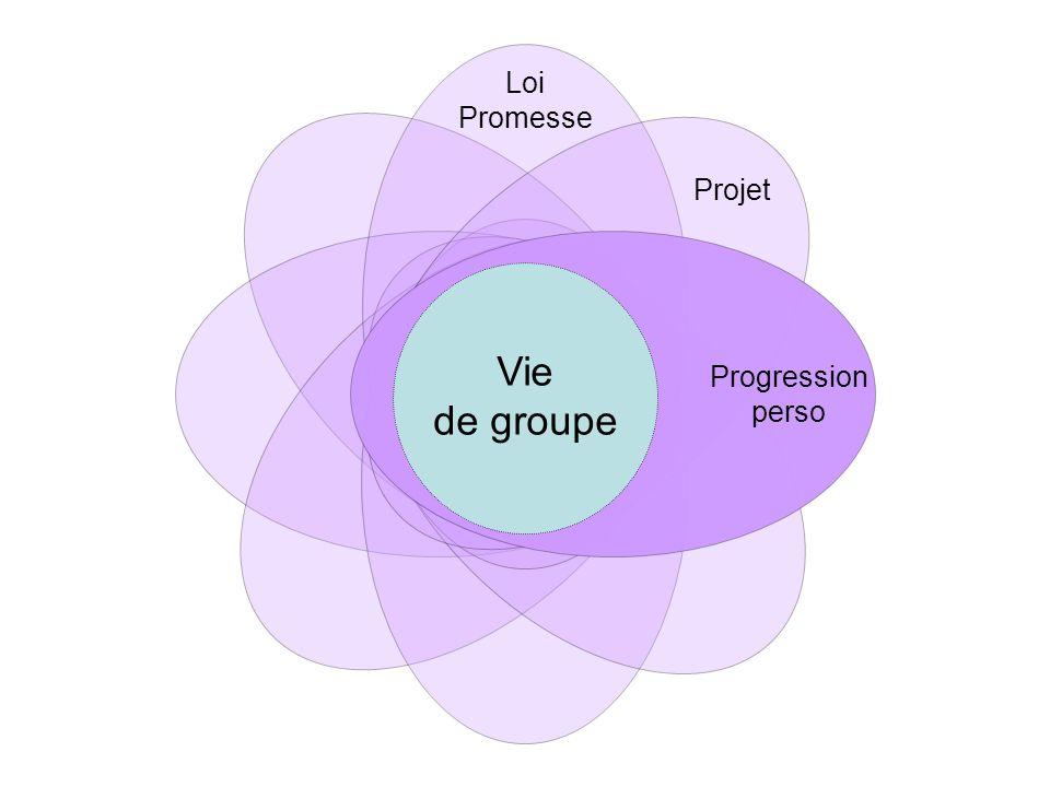 Progression perso Vie de groupe Loi Promesse Projet Equipes