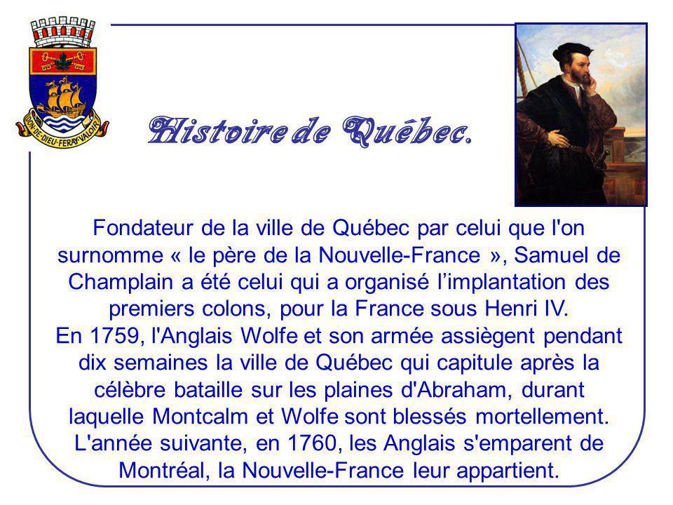 Histoire de Québec.