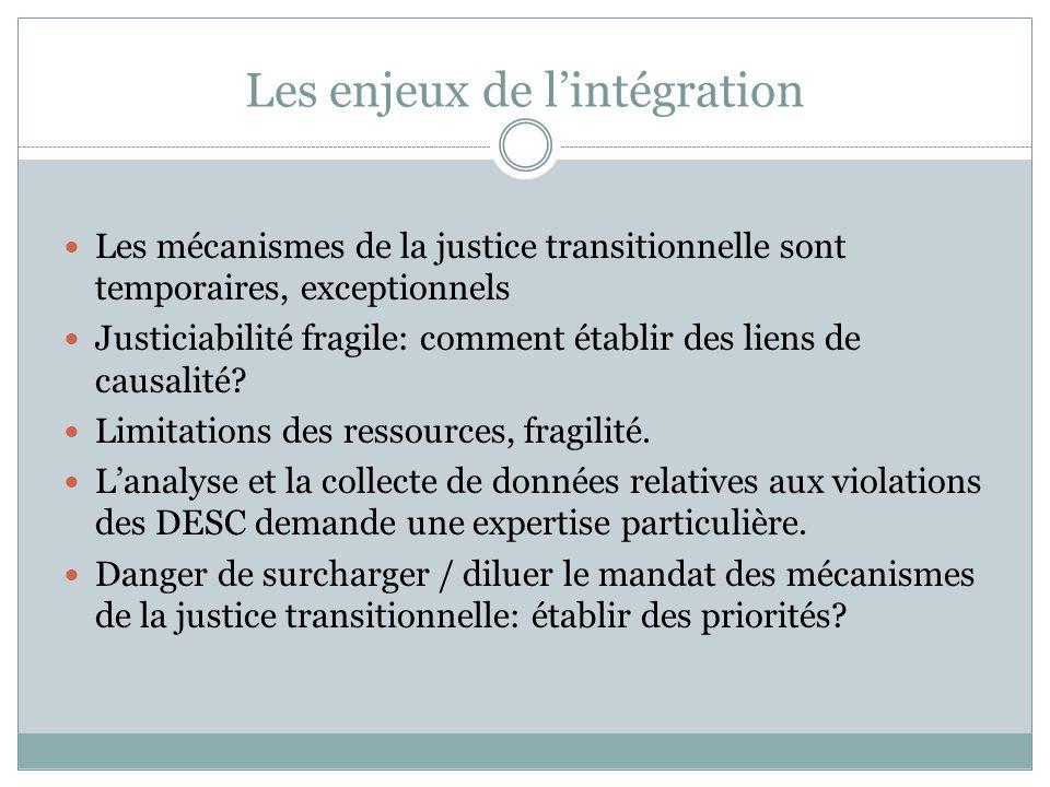Exercices Répondez en groupe aux questions suivantes: Pourquoi un Etat doit-il faire face à un héritage de violations des droits de l'homme.