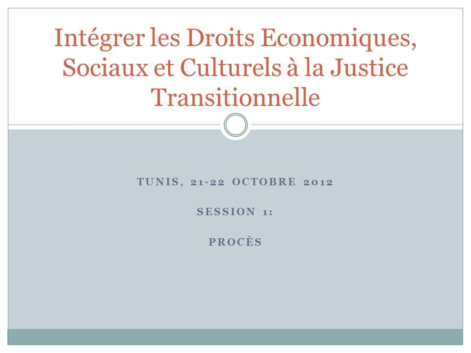 Les procès dans la justice transitionnelle Une obligation internationale: lutte contre l'impunité.