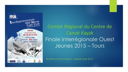 Bulletin d'informations – Septembre 2015