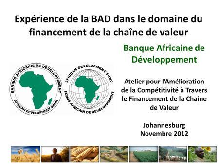 Couloirs de croissance agricole pr sentation de sean de for Chambre de partenariat euro afrique de belgique