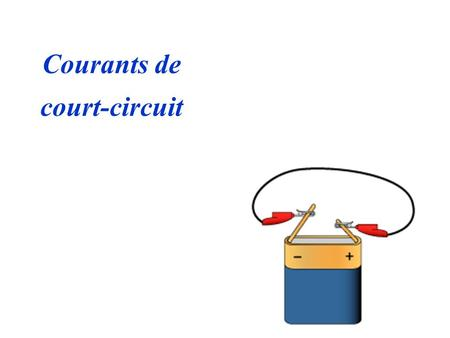 Courants de court-circuit