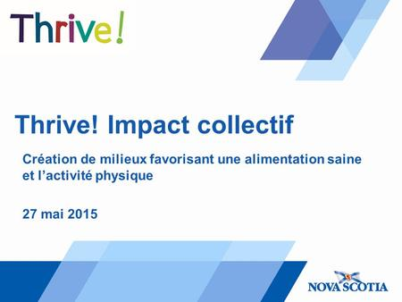 Thrive! Impact collectif