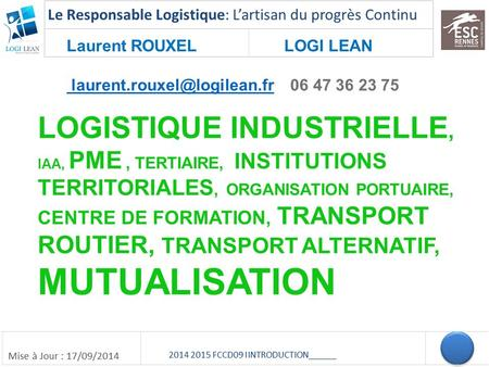 Laurent ROUXEL LOGI LEAN